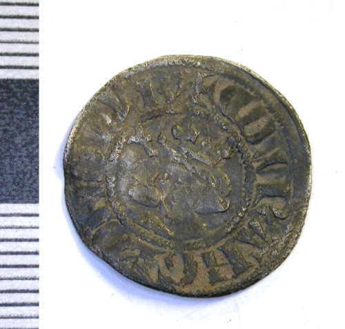 LEIC-A2CD39: Medieval silver penny of Edward I