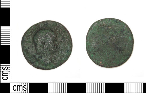 LEIC-AAF8CE: Roman copper alloy As of vespasian