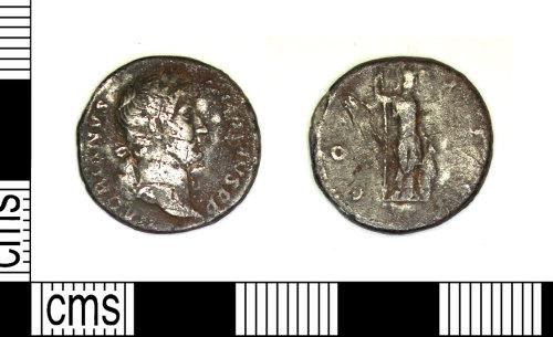 LEIC-B15DA8: Roman silver denarius of Hadrian