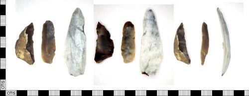 LEIC-B4025E: Mesolithic flint blades
