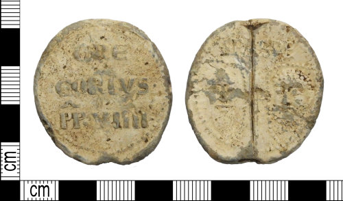 LEIC-D2A1D9: Medieval lead alloy papal bulla
