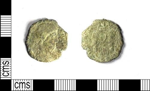 LEIC-DEC4F0: Roman copper alloy nummus of Magnentius