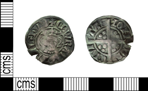 LEIC-E1C93F: Medieval silver penny of Edward I