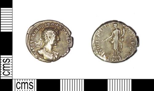 LEIC-F8BB71: Roman silver denarius of Hadrian