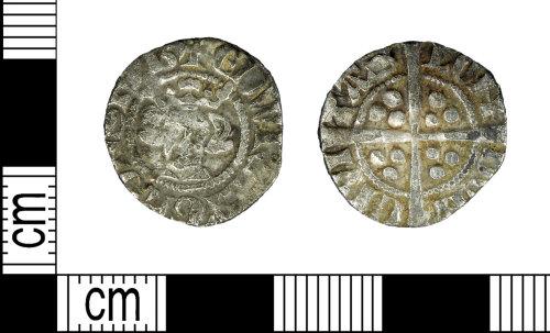 LEIC-FD930E: Medieval silver Edwardian penny
