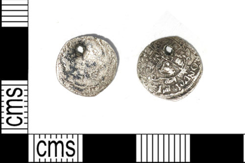 LEIC-FDFDF8: Post medieval silver halfgroat of Charles I