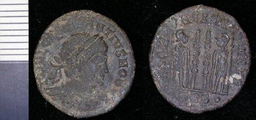 LEIC-DBECF6: 1648 Copper allloy nummus Constantius II as Caesar 330-335